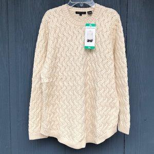 Women's Jeanne Pierre Pullover Sweater Beige Sz XL